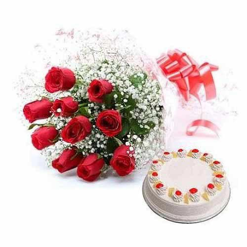 Flowers with Cake - India Delivery Only