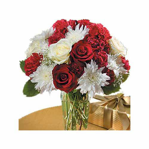 Red And White Bouquet - Peru Delivery Only