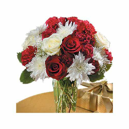Red And White Bouquet - New Zealand Delivery Only