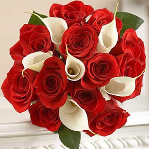 Rose And Calla Lily - Moldova Delivery Only
