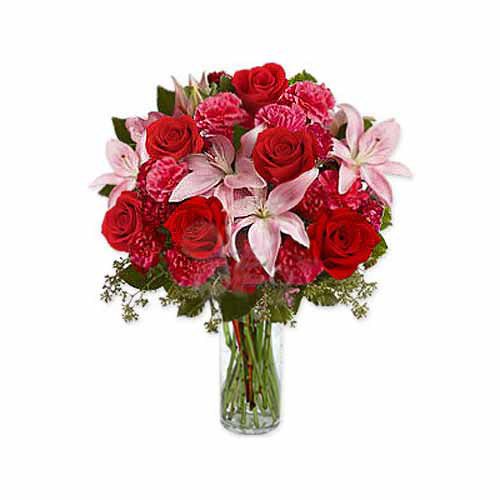 Carnations Lilies And Roses - Peru Delivery Only
