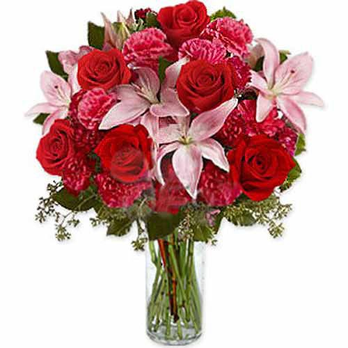 Carnations Lilies And Roses - Finland Delivery Only