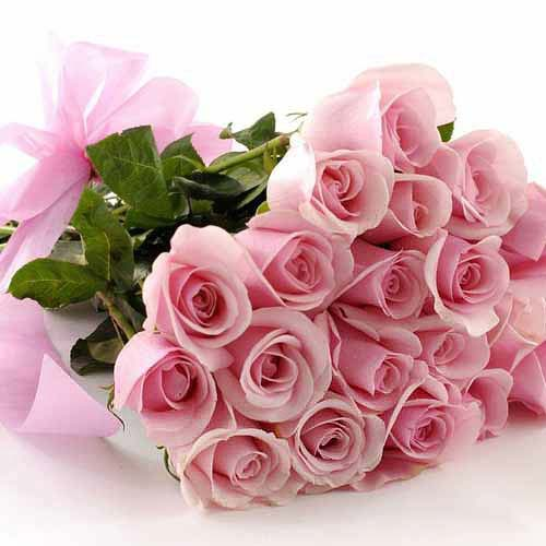 20 Pink Roses - India Delivery Only