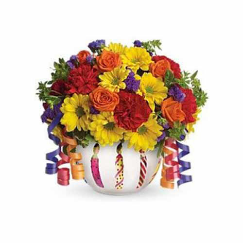 Brilliant Birthday Blooms - Liberia Delivery Only
