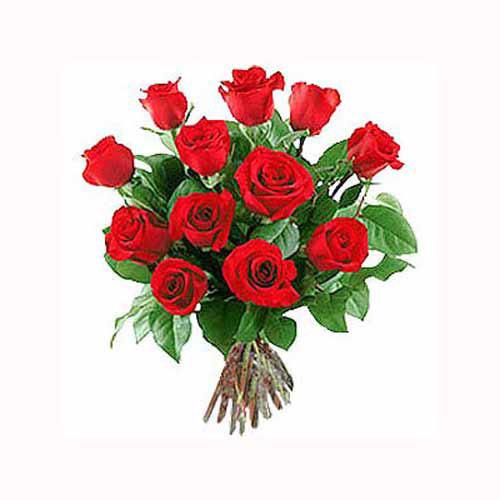 12 Red Long Stem Roses