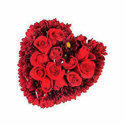 Heart Shaped Arrangement Of Roses - Peru Delivery Only