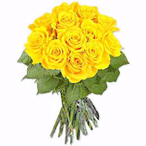 One Dozen Yellow Roses - Japan Delivery Only