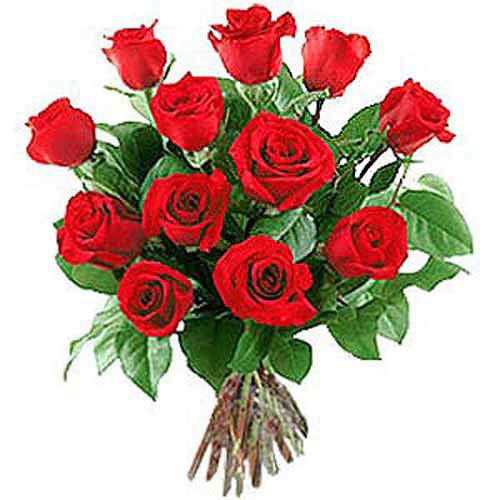 12 Long Stem Roses - Greece Delivery Only