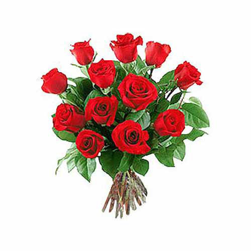 12 Long Stem Red Roses - Philippines Delivery Only