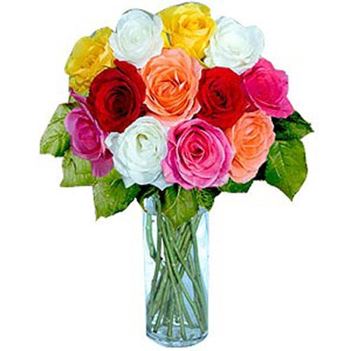 12 Short Stem Mixed Roses - Georgia Delivery Only
