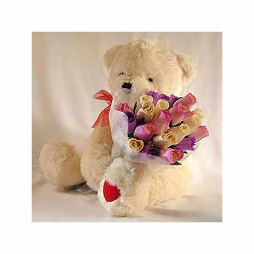 Beary Rosy Bouquet - Turkey Delivery Only