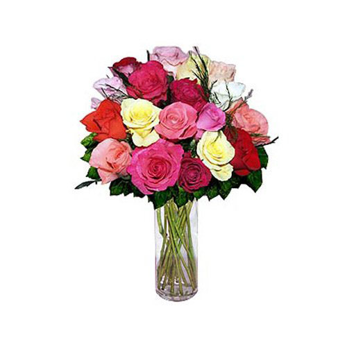 18 Mixed Mini Roses - Russia Delivery Only