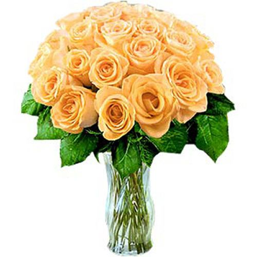 24 Peach Roses - Armenia Delivery Only