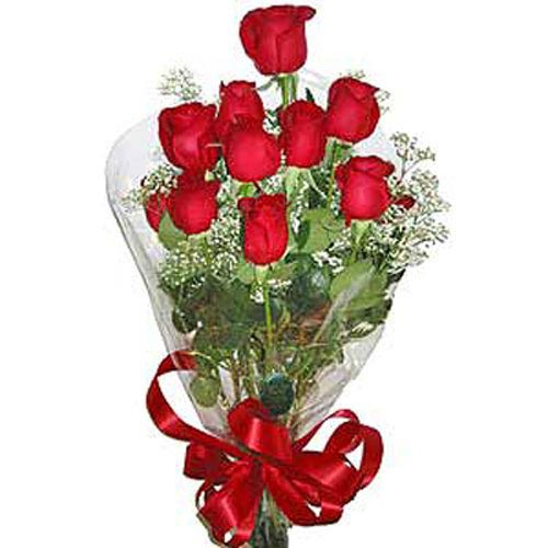 11 Red Roses Bouquet - Kazakhstan Delivery Only