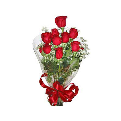 11 Red Roses Bouquet - Russia Delivery Only