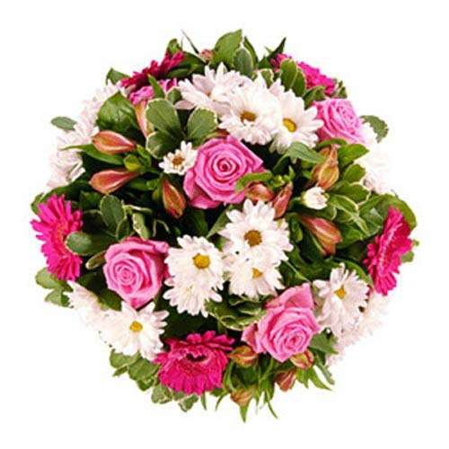 Pink Funeral Posy - France Delivery Only
