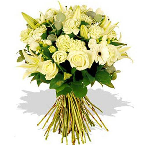 Brilliant White Funeral Bouquet - France Delivery Only