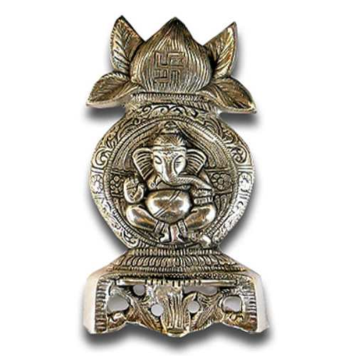 White Metal Kalash With Ganesh - 27 - Canada Delivery Only