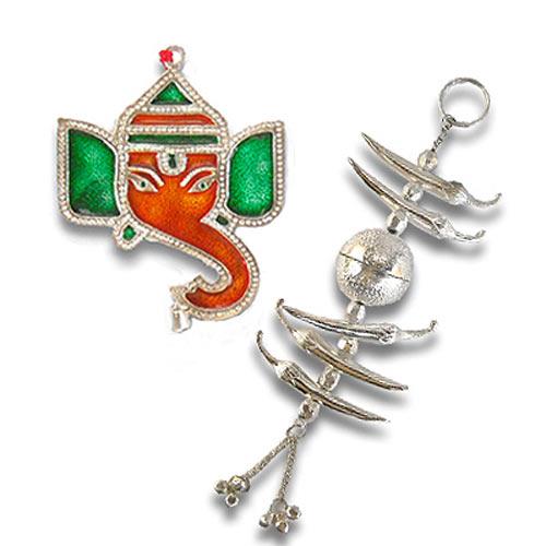 Meenakari Lord Ganesh & Nimbu Mirch - 41