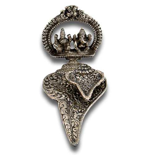 Lord Ganesh Lakshmi Sankh Shape Diya - 5