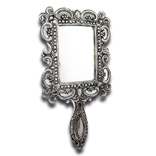 White Metal Mirror 2 - 59