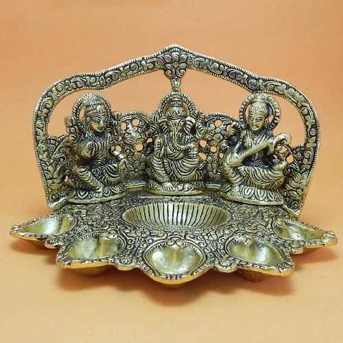 Lord Ganesh With Goddess Lakshmi & Saraswati -Australia Delivery