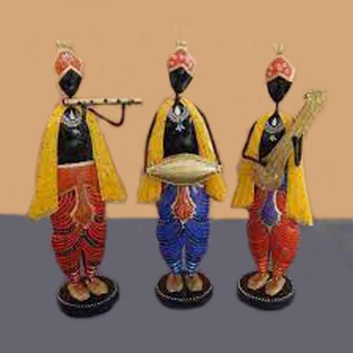 Wrought Iron Krishna Musician Team