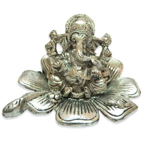 White Metal Lord Ganesh - 11033 - Canada Delivery Only