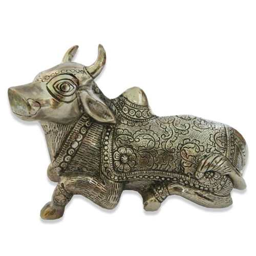 White Metal Cow - 11034