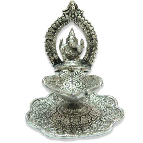 Lord Ganesh With Deep - 11040 - USA Delivery Only