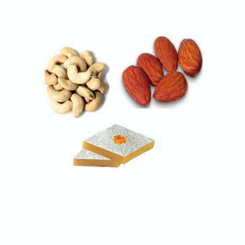Badam Barfi & Dry Fruits Hamper - 11049 - Australia Delivery