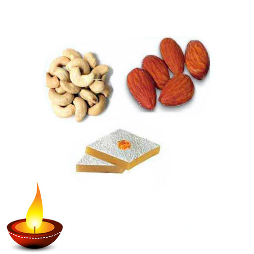 Badam Barfi & Dry Fruits Hamper - 11049 - Australia Delivery