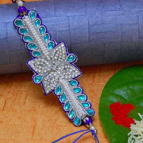 Classy American Diamond Rakhi