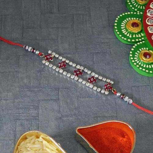Beautiful A D Stone Bracelet Rakhi