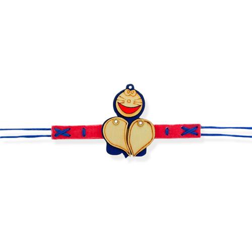Smiling Doraemon Bracelate Rakhi - AUSTRALIA Delivery Only