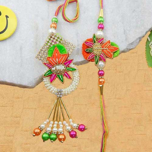 A Prepossessing Bhaiya Bhabhi Rakhi - UK Delivery Only
