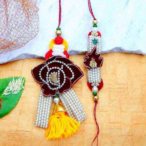 Mesmeric Rakhi Lumba Set - Add On