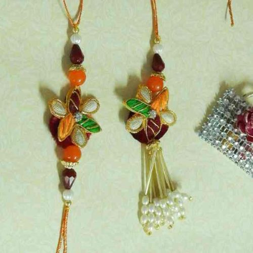 An Amiable Rakhi Lumba Set - CANADA Delivery Only
