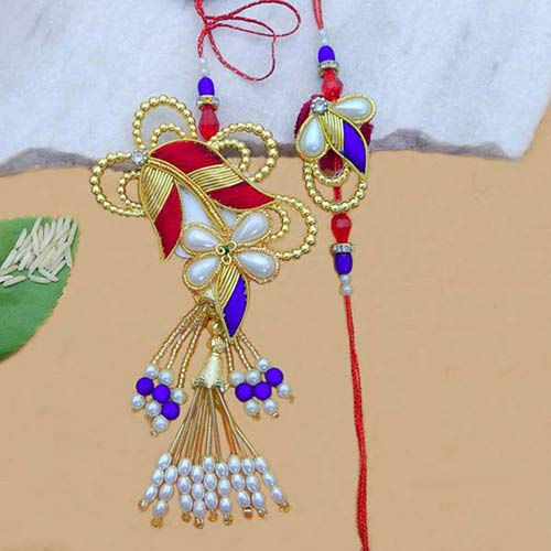 Designer Rakhi Lumba Set - Add On