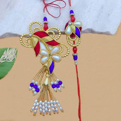 Designer Rakhi Lumba Set - FSW
