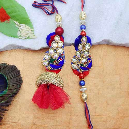 Pleasing Rakhi Lumba Set - UK Delivery Only