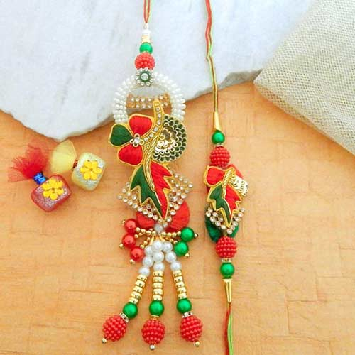 Infatuating Rakhi Lumba Set - UK Delivery Only