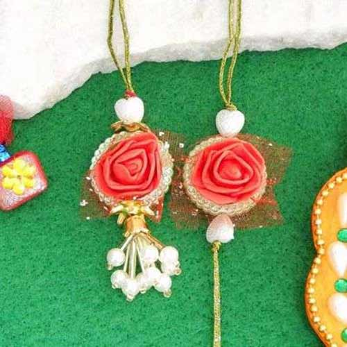 Rapturous Floral Rakhi Lumba - UK Delivery Only