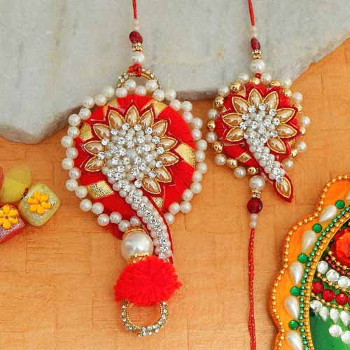 An Ornate Rakhi Lumba Set - CANADA Delivery Only
