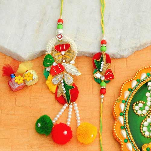 A Fancy Rakhi Lumba Set - UK Delivery Only