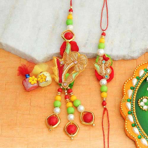 Stylized Rakhi Lumba Set - UK Delivery Only