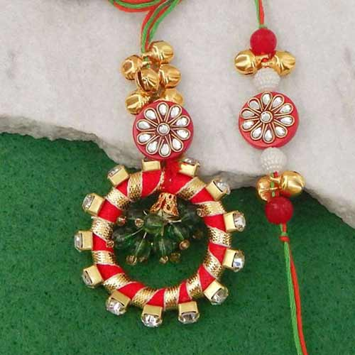 Stylized Rakhi Lumba Set - 2 - UK Delivery Only