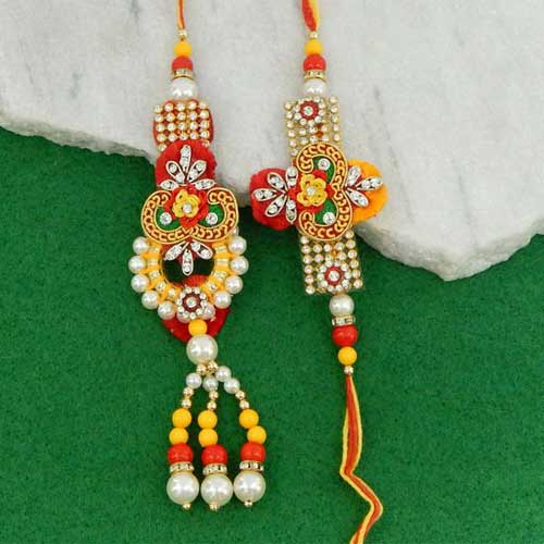 Swanky Rakhi Lumba Set - UK Delivery Only