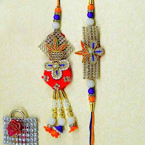 Alluring Rakhi Lumba Set - UK Delivery Only