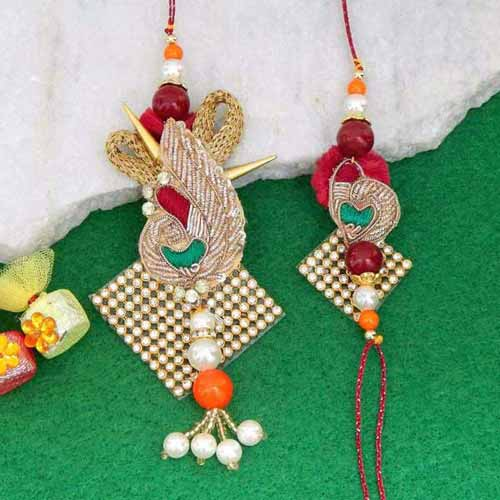 Admirable Rakhi Lumba Set - CANADA Delivery Only